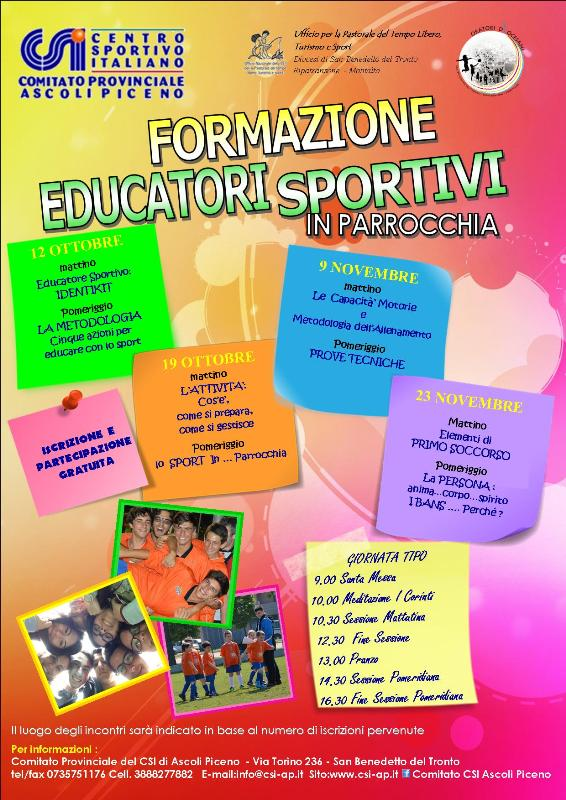 Form.educatori sportivi in parr.20142015